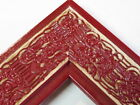 """2.3"""" Mayan Distressed Cherry Red Solid Wood Canvas Picture Frame-Custom Standard"""