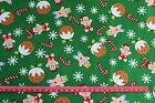 Gingerbread candy canes Puddings CHRISTMAS  Fabric material 100% cotton REMNANT