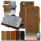 iPhone 6 6s plus 5c 5 5s Leather Wallet Cover Smart Case Australia Stock