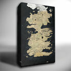 Game of Thrones Westeros Map - PREMIUM GICLEE CANVAS ART *Choose your size