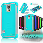 Hybrid Shockproof Rubber Protective Hard Case Cover For Samsung Galaxy S5 i9600