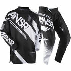 NEW ANSWER RACING A17 SYNCRON BLACK WHITE ADULT RACE GEAR COMBO JERSEY PANTS MX