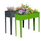Raised Garden Flower Bed Elevated Plant Kit Deck Vegetable Planter Herb Box New