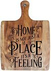Engraved & Painted Bread/Chopping Board- Home Is Not Just A Place It's A Feeling