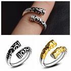Vogue Unisex Gold Hoop Ring Open Adjustable Couple Rings Fashion Jewelry Gift