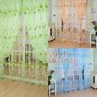 1PC Panel Sheer Scarf Valances Window Floral Tulle Voile Door Window Curtain