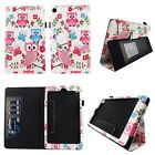 Case For Kindle Fire HD 8 2016 Syn Leather Slim Fit Folio Auto Wake/Sleep Cover