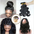8A Brazilian Human Hair 3 Bundles/150g Body Wave with 360 Lace Frontal Closure