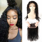 New long Brazilian Deep Curly Remy Human Hair 360Lace Frontal Closure with strap