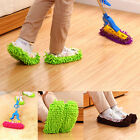 1Pair Chenille fiber Absorbent Wipe Slippers Anti-skid Lazy Mop Floor Shoes