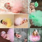newborn red tutu - NEW Cute Newborn Baby Girl Tutu Skirt & Headband Photo Prop Costume Outfit UY
