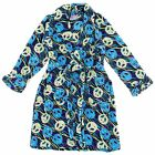NEW Sweet N Sassy Turquoise Peace Sign Plush Bath Robe for Toddler Girls