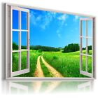 "3D  SUMMER Window View Canvas Wall Art Picture Large SIZE 30X20"" W14"