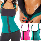 Girls Thermo Sweat Neoprene Body Shaper Slimming Waist Trainer Cincher Yoga Vest