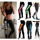 Women Ladies Yoga Fitness Leggings Gym Exercise Sports Running Pants Trousers