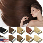 """AAAAA+ 16"""" 40PCS Seamless Tape In Skin Weft 100% Remy Human Hair Extensions USA"""