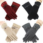 Colorful Women Winter Warm Soft Lace Gloves Girls' fashion Gloves Bow Design