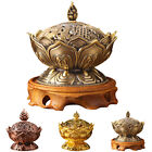 New Chinese Lotus Incense Burner Holder Flower Statue Censer Room Decoration