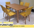 Oakland  Cosmo 7 PC Dining Table Dining Set Great Value 6 Yellow Chair !!!