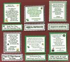 6 St. Patricks Day Greeting Verse Toppers W/WO Matching Sentiment Banners