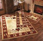 Hearts Stars & Berries Accent Runner Area Rug Country Rustic Primitive Decor