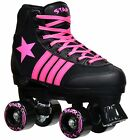 Epic Star Vela Sneaker Style High-Top Quad Roller Skates + 2 Pair of Laces