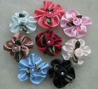 40/200pcs stain ribbon flower bows rose craft wedding/sewing/appliques polyester