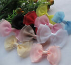 100/20pcs Fancy Organza Ribbon Bow Flower wedding baby doll appliques Lots Upick