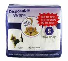 Authorized Seller  Wiki Wags® Male Dog Disposable diaper Wraps XSmall, Small, M, L