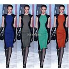Womens Short Sleeve crew Neck Knitting Stretchy Casual Brief Mini Dress S M L