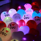 5pcs Luminous Led Light up Balloon Latex Party Valentine's Day Decoration