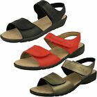 Ladies Free Step Leather Hook & Loop Classic Everyday Sandals - Style 6