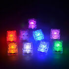 Novelty LED Glow Ice Cubes Liquid Sensor Wedding Party Sparkling Light Lamps