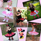 Baby Girls Minnie Mouse Pink, Red Tutu Pettiskirt. Minnie Polka Dots Pettiskirt.