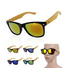 Women Men Multi Colorful Bamboo Leg Big Frame Sunglasses UV400 Outdoor Eyewea