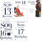 Son 13th 14th 15th 16th or 17th Birthday Card - page insert Verse ICG