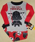*NWT* STAR WARS 2 pc. PAJAMAS sz. 4T & 5T ~ Darth Vader & Troopers COMES TROUBLE
