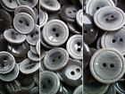 12mm 15mm 20mm Grey & Light Grey Brush Patterned 2 Hole Craft Buttons CB14-16 X