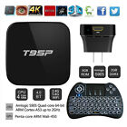 T95P Quad Core 1080p 4K 3D Wifi Android 6.0 TV Box Power Plug+Backlit Keyboard