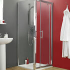 SHOWER CUBICLE ENCLOSURE 6mm GLASS CHROME SIDE PANEL with-out DOOR TRAY & WASTE