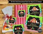 12X FARM ANIMALS PARTY THANK YOU FAVOUR GIFT TAGS LABELS LOLLY BAG BIRTHDAY
