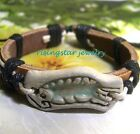 Talking Parrot Handmade Leather Fashion Surfer Characters Bracelet Wristband