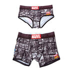 Marvel Underpants Couple Brief Boxer Iron Man Black Women One Size Men Medium