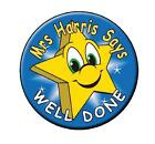 Well Done Personalised Name Stickers Stars Labels  Decals School Teachers Awards
