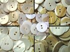 15mm 18mm 20mm 23mm 25mm Ivory Agoya Shell Natural Neutral Sewing Craft Buttons