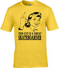 Skateboarder Mens T-Shirt Gift Idea Occupation Sports Extreme Stunt Trick Games