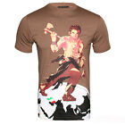 Mens Brown World Soldiers Designer Tee Shirt Limited Edition