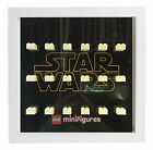 Lego Star Wars Logo Minifigures Display Case Picture Frame Minifigs