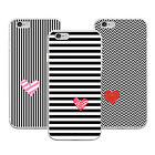 Love Striped Print Phone Case Cover for iPhone 6 7 Plus Samsung Galaxy Dazzling