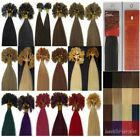 """New 18"""" Keratin Nail/U Tip Remy Human Hair Extensions Straight 100s 19Colors 50G"""